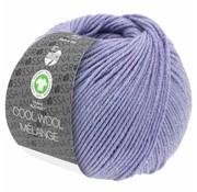 Lana Grossa Cool Wool Melange GOTS 0101 Kleur: Lila gevlekt