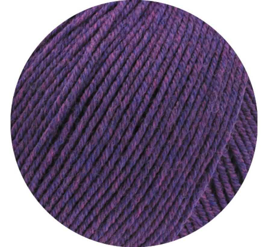 Cool Wool Melange GOTS 0103 Kleur: Donker violet gevlekt