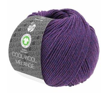 Lana Grossa Cool Wool Melange GOTS 0103 Kleur: Donker violet gevlekt
