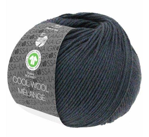 Lana Grossa Cool Wool Melange GOTS 0104 Kleur: Blauw groen gevlekt