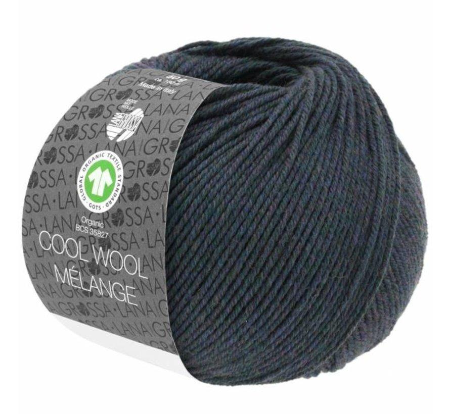 Cool Wool Melange GOTS 0104 Kleur: Blauw groen gevlekt