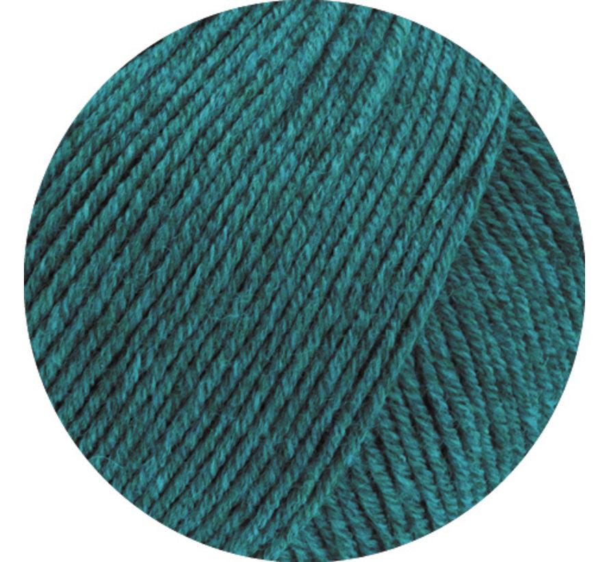 Cool Wool Melange GOTS 0105 Kleur: Petrol gevlekt