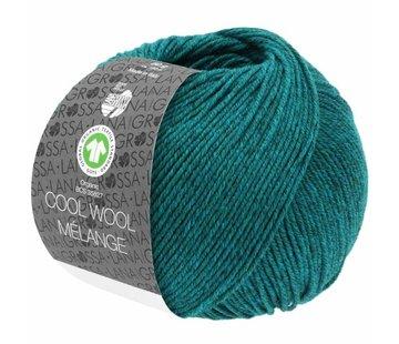 Lana Grossa Cool Wool Melange GOTS 0105 Kleur: Petrol gevlekt