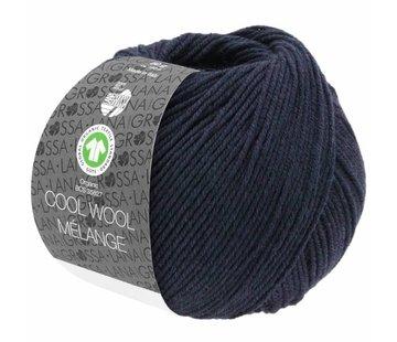 Lana Grossa Cool Wool Melange GOTS 0107 Kleur: Nachtblauw gevlekt
