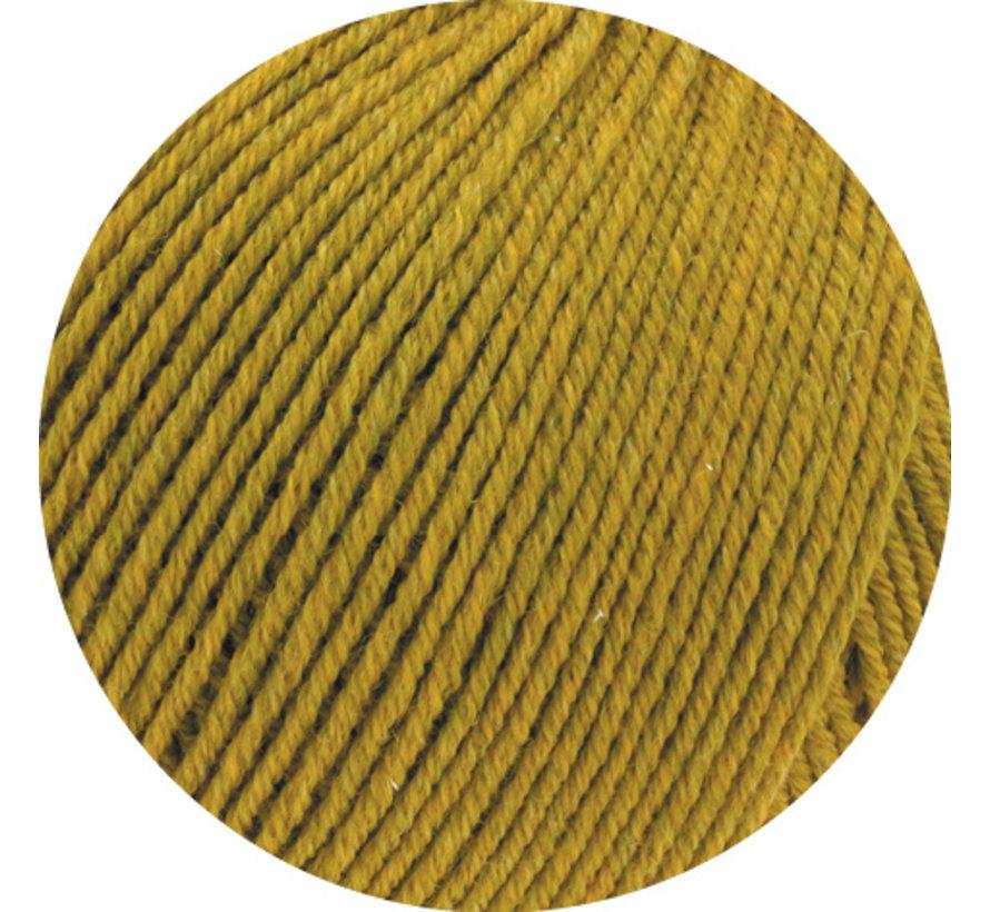 Cool Wool Melange GOTS 0108 Kleur: Olijfgeel gevlekt