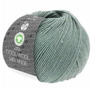 Lana Grossa Cool Wool Melange GOTS 0109 Kleur: Grijs groen gevlekt