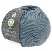 Lana Grossa Cool Wool Melange GOTS 0110 Kleur: Grijs blauw gevlekt