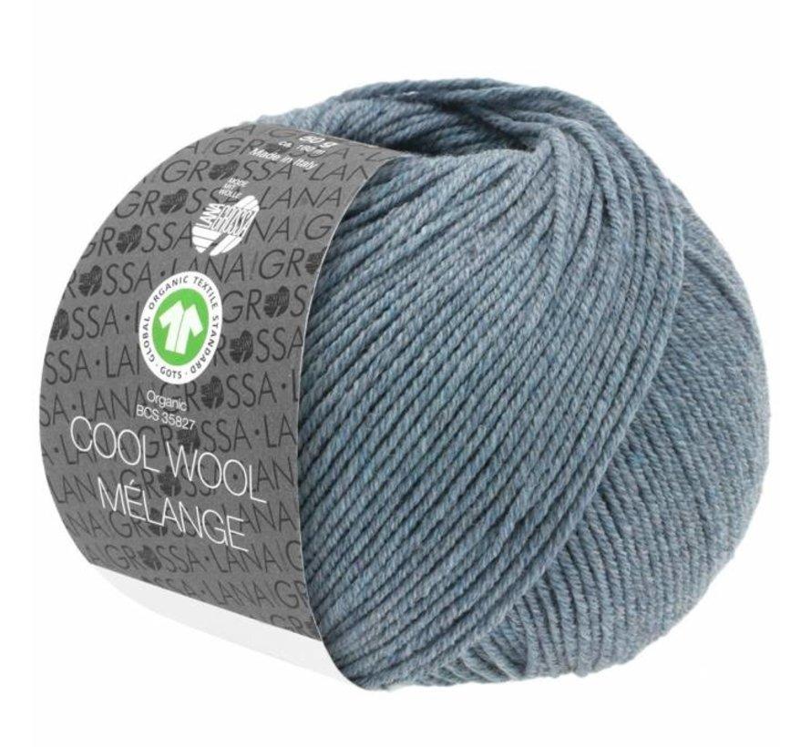 Cool Wool Melange GOTS 0110 Kleur: Grijs blauw gevlekt