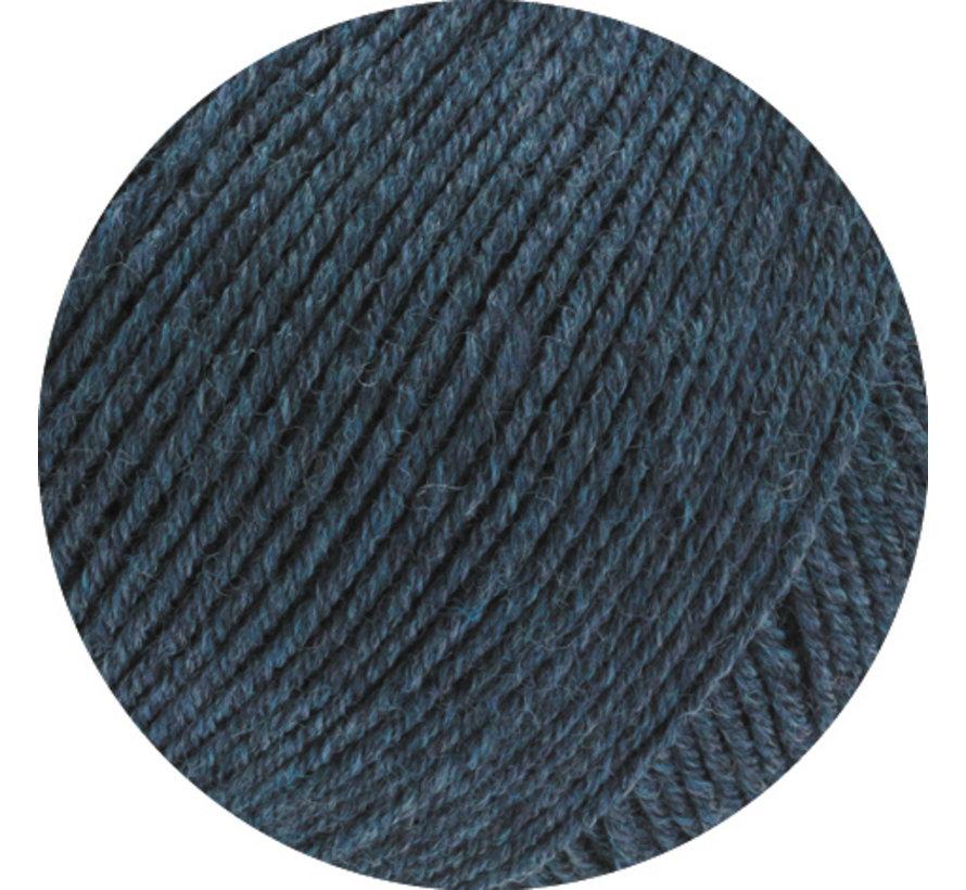 Cool Wool Melange GOTS 0111 Kleur: Zwart blauw gevlekt