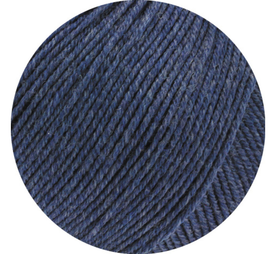 Cool Wool Melange GOTS 0112 Kleur: Donkerblauw gevlekt