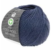 Lana Grossa Cool Wool Melange GOTS 0112 Kleur: Donkerblauw gevlekt