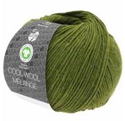 Lana Grossa Cool Wool Melange GOTS 0113 Kleur: Olijf gevlekt