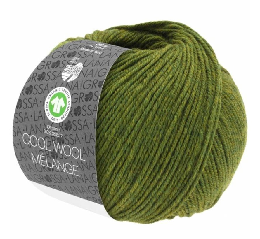 Cool Wool Melange GOTS 0113 Kleur: Olijf gevlekt