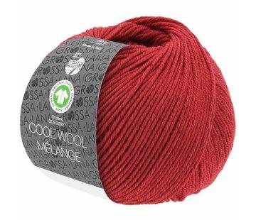 Lana Grossa Cool Wool Melange GOTS 0115 Kleur: Rood gevlekt