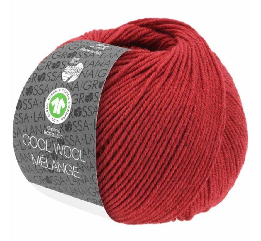 Cool Wool Melange GOTS 0115 Kleur: Rood gevlekt