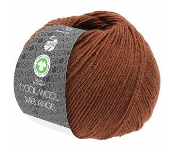 Lana Grossa Cool Wool Melange GOTS 0116 Kleur: Bruin gevlekt