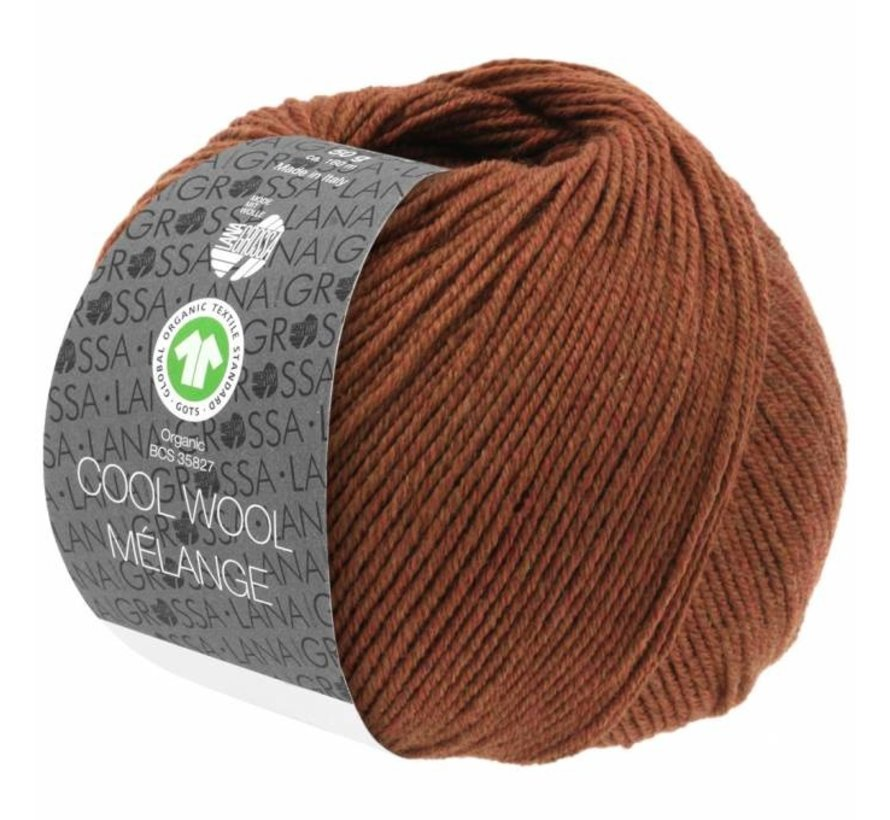 Cool Wool Melange GOTS 0116 Kleur: Bruin gevlekt