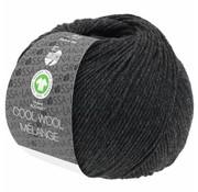 Lana Grossa Cool Wool Melange GOTS 0120 Kleur: Antraciet gevlekt