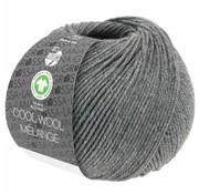 Lana Grossa Cool Wool Melange GOTS 0121 Kleur: Donkergrijs gevlekt