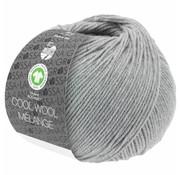 Lana Grossa Cool Wool Melange GOTS 0122 Kleur: Lichtgrijs gevlekt