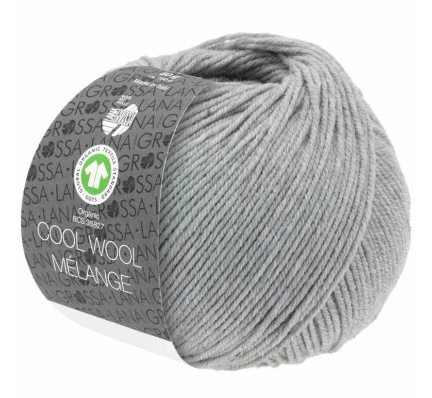 Cool Wool Melange GOTS 0122 Kleur: Lichtgrijs gevlekt