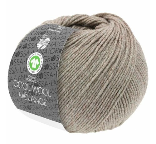 Lana Grossa Cool Wool Melange GOTS 0123 Kleur: Beige gevlekt