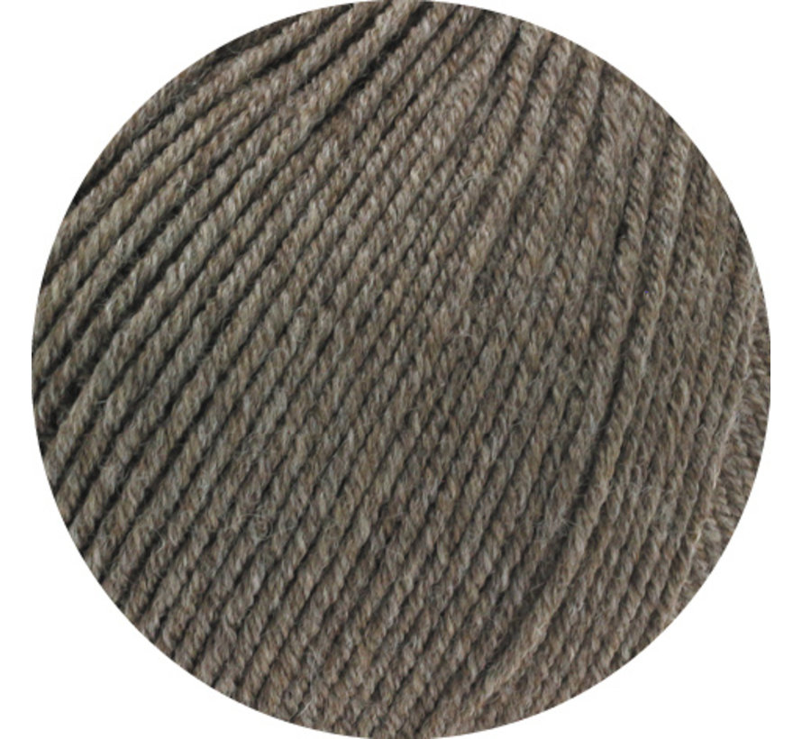 Cool Wool Melange GOTS 0124 Kleur: Grijs bruin gevlekt