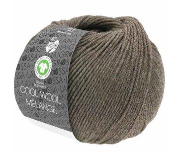 Lana Grossa Cool Wool Melange GOTS 0124 Kleur: Grijs bruin gevlekt