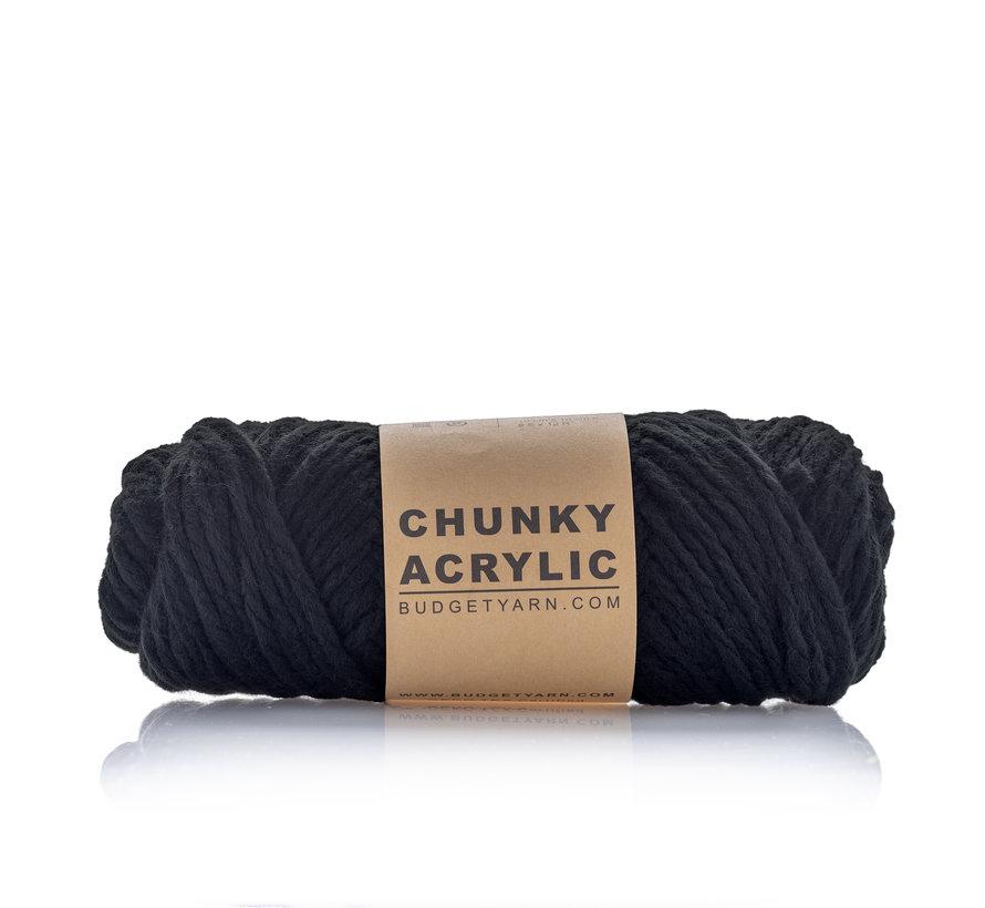 Budget Yarn Chunky Acrylic 100 Kleur: Black