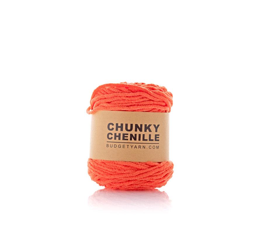 Budget Yarn Chunky Chenille 021 Kleur: Orange