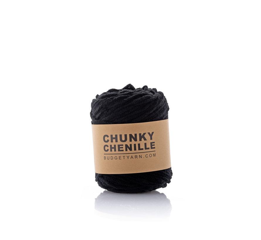 Budget Yarn Chunky Chenille 100 Kleur: Black