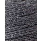 Bobbiny Bobbiny Macrame Triple Twist 3mm Charcoal