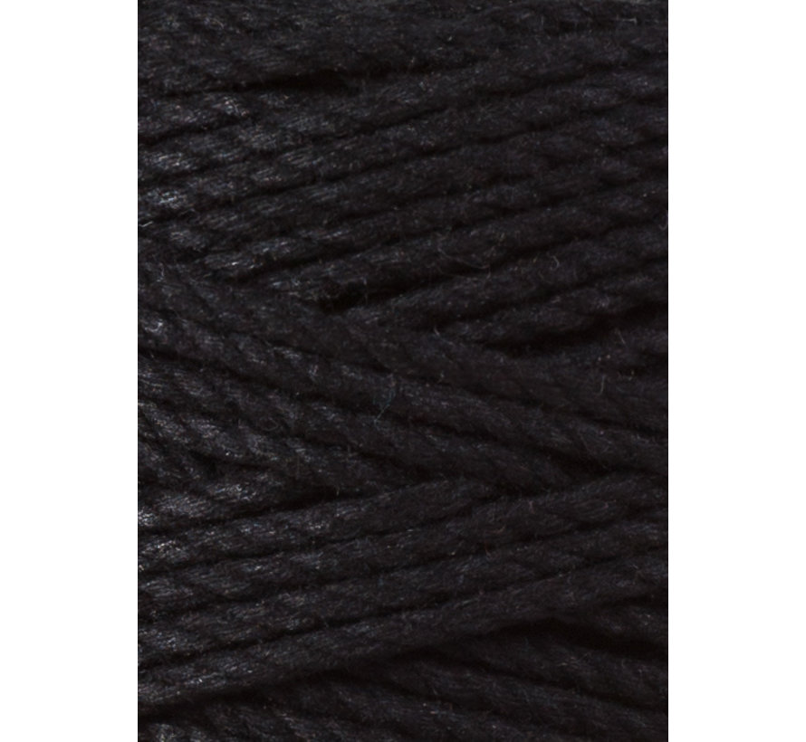 Bobbiny Macrame Triple Twist 3mm Black