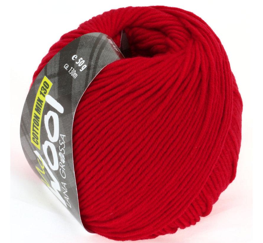 MC Wool Cotton Mix 130 nr.103 Kleur: Rood
