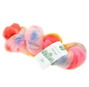 Lana Grossa Silkhair Hand-Dyed nr.603 Kleur: Sari Oranje-Roze-Geel-Hemelsblauw