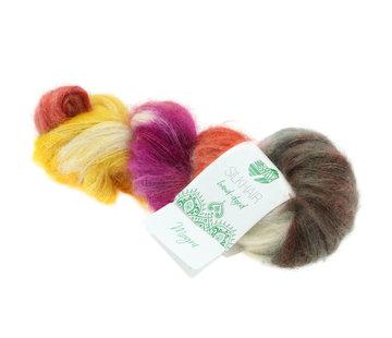 Lana Grossa Silkhair Hand-Dyed nr.608 Kleur: Mogra