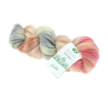 Lana Grossa Silkhair Hand-Dyed nr.610 Kleur: Gulab