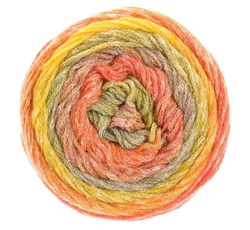 Lana Grossa Amoroso 008 Kleur: Geel-Oranje-Abrikoos-Mosterd-Grijs