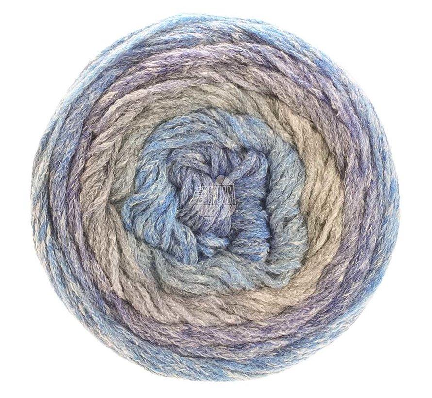 Amoroso 004 Kleur:  Lichtgrijs-Jeans-Violetblauw-Grijs