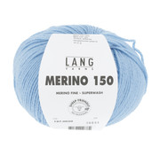Lang Yarns Lang Yarns Merino 150 020 Kleur: Licht Blauw