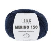 Lang Yarns Lang Yarns Merino 150 035 Kleur: Navy Blauw