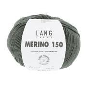 Lang Yarns Lang Yarns Merino 150 098 Kleur: Olijf Groen