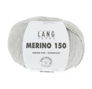 Lang Yarns Lang Yarns Merino 150 223 Kleur: Lichtgrijs melange