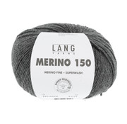 Lang Yarns Lang Yarns Merino 150 270 Kleur: Donker Grijs melange