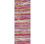 Lana Grossa Gomitolo Pazzo 816 Kleur: Roze-Geel-Wit-Ijsblauw