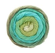 Lana Grossa Gomitolo Aloha 314 Kleur: Groen-Beige-Taupe-Grijs Bruin- Jade-Turquoise-Bladgroen