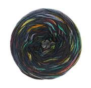 Lana Grossa Gomitolo Denim Graffiti 355 Kleur: Blauw-Turquoise-Rood-Geel-Paars-Wit-Grijs