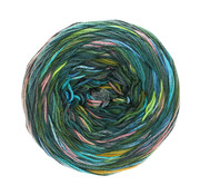 Lana Grossa Gomitolo Denim Graffiti 356 Kleur: Groen-Roze-Turquoise-Blauw