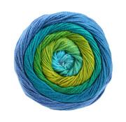 Lana Grossa Gomitolo Aloha 304 Kleur: Turquoise-Blauw-Smaragd-Appelgroen-Geelolijfgroen-Hemelsblauw