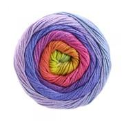 Lana Grossa Gomitolo Aloha 302 Kleur: Turquoise-Rood-Pistache-Mosterdgeel-Lavendel-Oranje